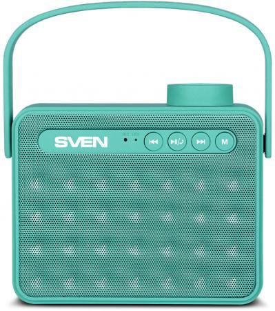 Портативная колонка АС SVEN PS-72 Mint 2.0, 6Вт, 150 – 20 000 Гц, Bluetooth, FM, USB, microSD колонка портативная marshall kilburn cream