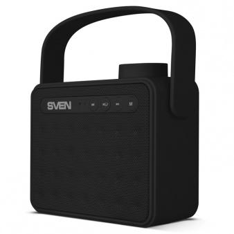 Портативная колонка SVEN АС PS-72 Black 2.0, 6Вт, 150 – 20 000 Гц, Bluetooth, FM, USB, microSD колонка sven ms 2250 black