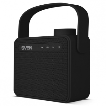 цена на Портативная колонка SVEN АС PS-72 Black 2.0, 6Вт, 150 – 20 000 Гц, Bluetooth, FM, USB, microSD