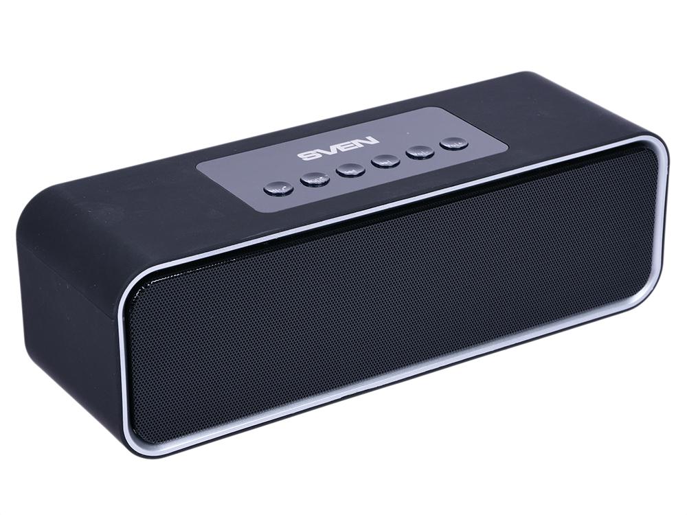 Портативная акустика Sven PS-175 10Вт Bluetooth черный 2 ? 5 Вт, 100 - 22000 Гц, FM, Bluetooth, AUX, USB, microSD портативная акустика perfeo sound ranger 2 вт fm mp3 usb microsd bl 5c 1000mah черный pf sv922bk
