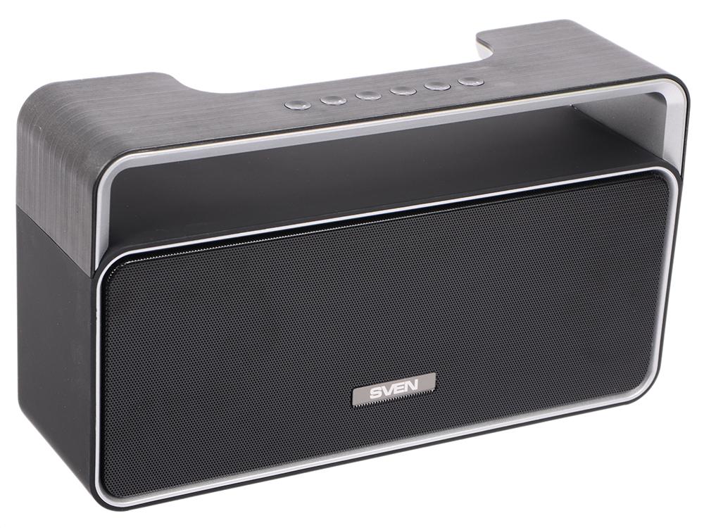 Портативная колонка Sven PS-185 Black 10 Вт, 100 - 22000 Гц, FM, Bluetooth, USB, microSD колонка sven ms 2250 black