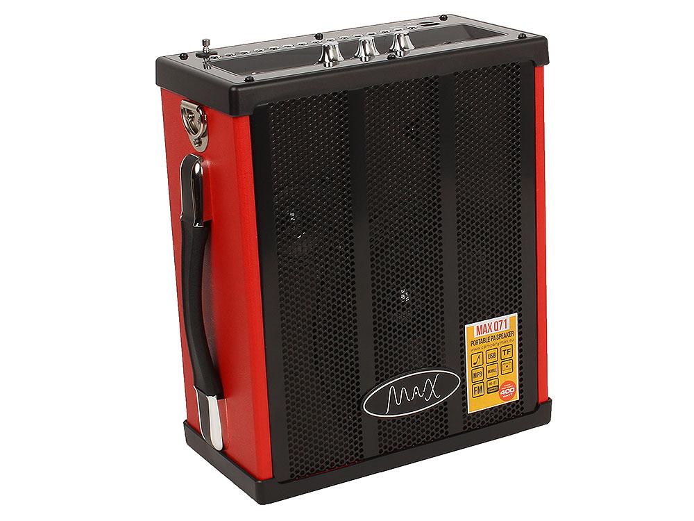 Портативная колонка MAX Q71, Black/Red (30054) (20 Вт, 100 - 18000 Гц, Bluetooth, mini Jack, Jack, USB, Micro SD, батарея) портативная колонка monster superstar hotshot black gold 129289 00