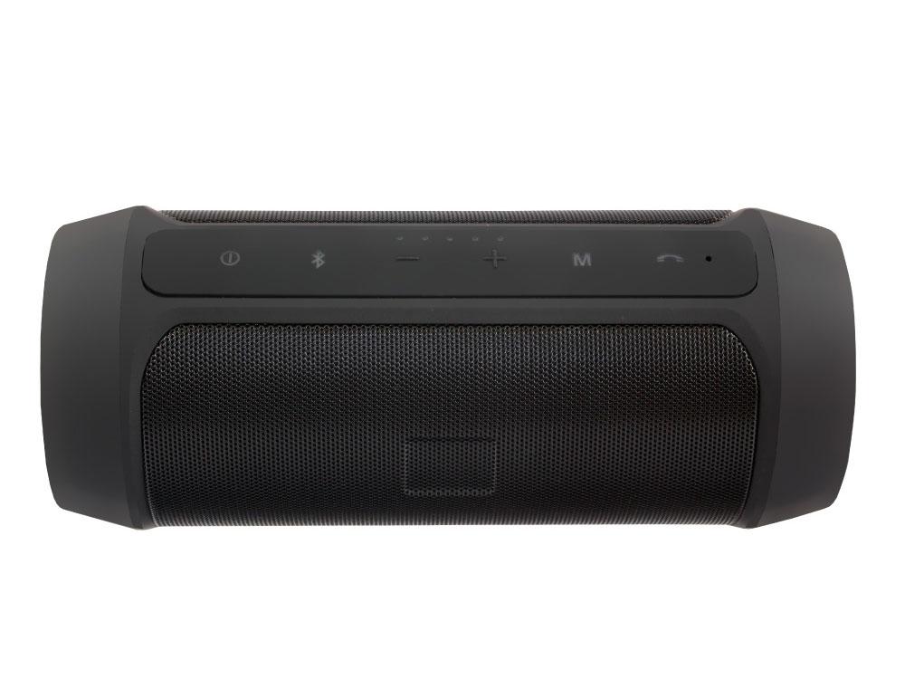 Портативная акустика Ginzzu GM-994G Black 2 х 5 Вт / 100 - 18000 Гц / FM / BT 4.0 / USB, AUX / АКБ цена и фото