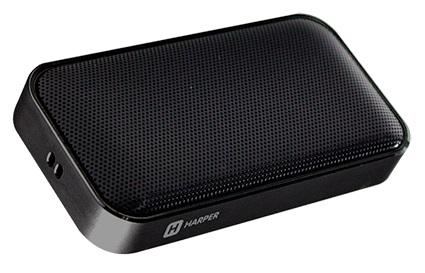 Беспроводная BT-Колонка HARPER PS-020 black 5 Вт, 20-18000 Гц, микрофон, Bluetooth, батарея, USB портативная колонка creative woof 3 chrom 3 вт микрофон bluetooth mini jack батарея usb