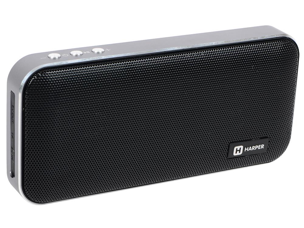 цена на Портативная колонка HARPER PSPB-200 Black Беспроводная акустика / 2 x 5 Вт / 180 - 18000 Гц / Bluetooth 4.2 / microSD