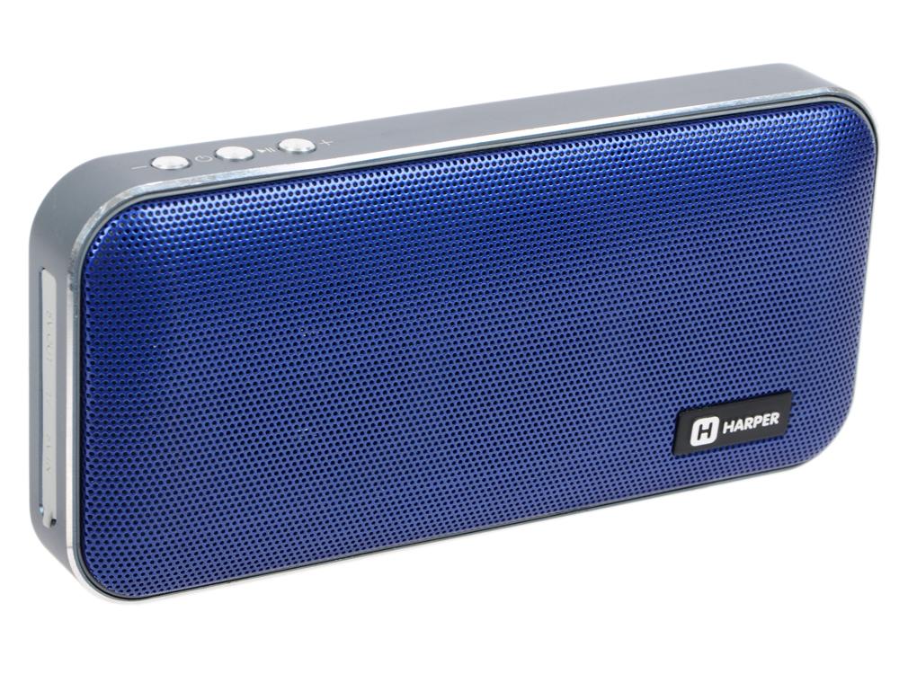цена на Портативная колонка HARPER PSPB-200 Blue Беспроводная акустика / 2 x 5 Вт / 180 - 18000 Гц / Bluetooth 4.2 / microSD