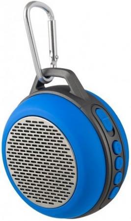 Портативная акустика Perfeo Solo 5Вт Bluetooth синий PF-BT-SOLO-BL портативная акустика perfeo sound ranger 2 вт fm mp3 usb microsd bl 5c 1000mah черный pf sv922bk