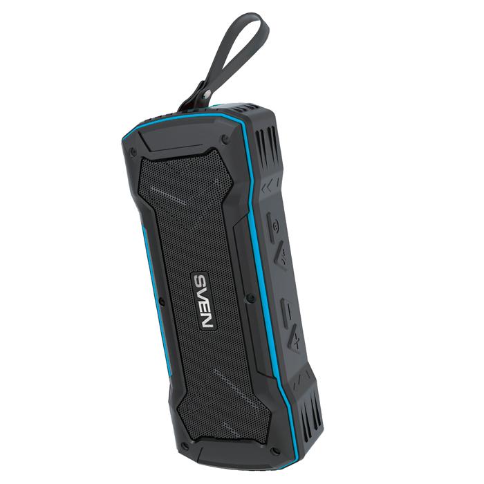 Портативная акустика Sven PS-220 Black/Blue 2х5Вт / 100 - 20000 Гц / FM / BT / AUX, USB / АКБ цена и фото