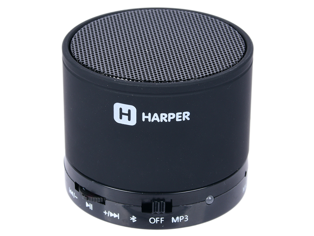 набор линз 3 в 1 harper ucl 003 black Портативная колонка HARPER PS-012 Black 3 Вт / 120 - 16000 Гц / Bluetooth 3.0 / microSD