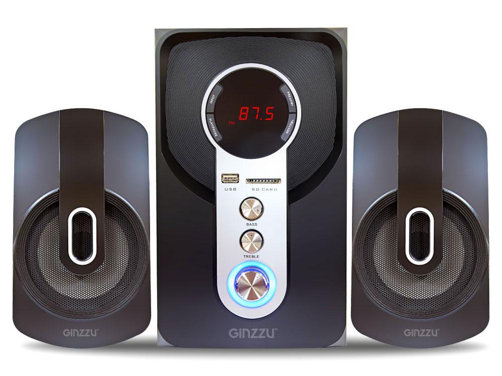 Акустическая система 2.1 GM-405 Black 20 Вт + 2х10 Вт / 40 — 20 000 Гц / FM / BT 2.1 / USB, AUX, 2RCA / 220V