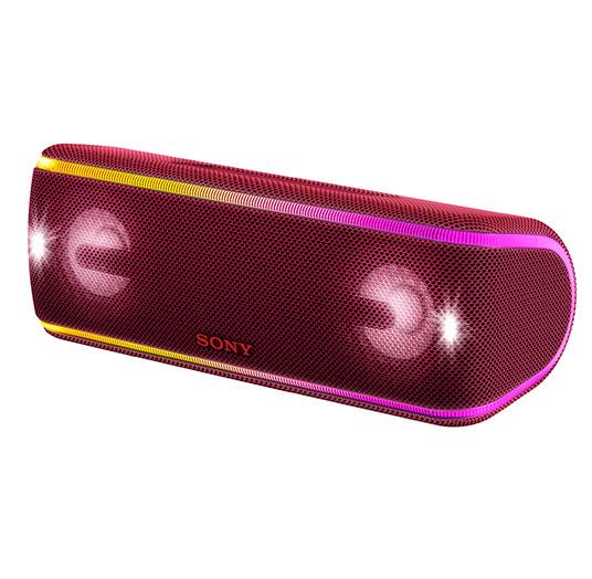 цена на Беспроводная портативная акустика Sony SRS-XB41 Красный Bluetooth /4.2, NFC, micro USB, Стереофонический мини-разъем, Extra BASS, Party Booster, LIVE