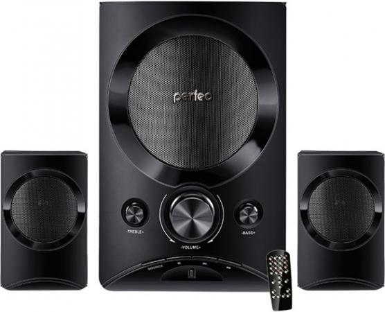 Акустическая система 2.1 Perfeo PF-3312 «MODERN» Black 2x10Вт + 15Вт / 150 - 20000Гц / FM / BT 4.0 / USB, mini-Jack (3.5 мм) / 220V