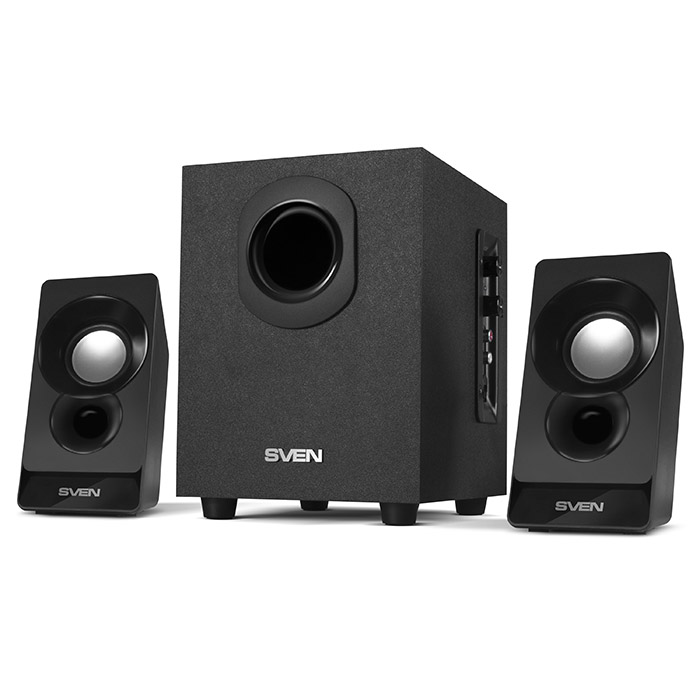лучшая цена Акустическая система 2.1 Sven MS-85 Black 5Вт + 2х2.5Вт / 50 - 20000 Гц