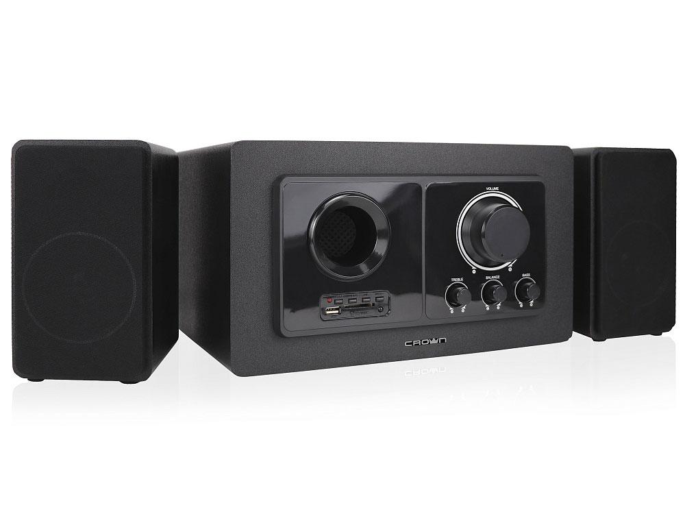 Акустическая система 2.1 Crown CMBS-501 Black 20 Вт + 2х15 Вт / 20 - 20000 Гц / BT / jack 3.5мм, USB / 220V акустическая система crown cms 601