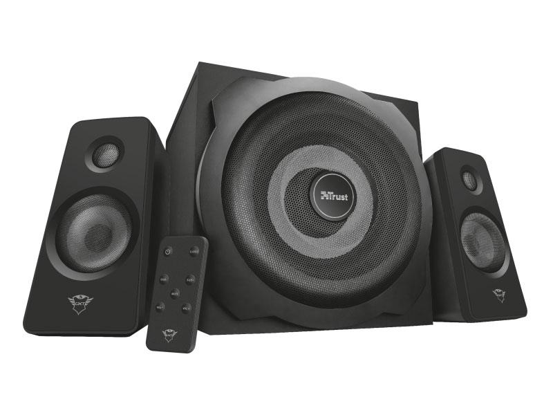 Колонки Trust GXT 638 Tytan 2.1 Black 120 Вт / 20 - 20000 Гц / ПДУ / 3.5 мм, S/PDIF / 220V цена