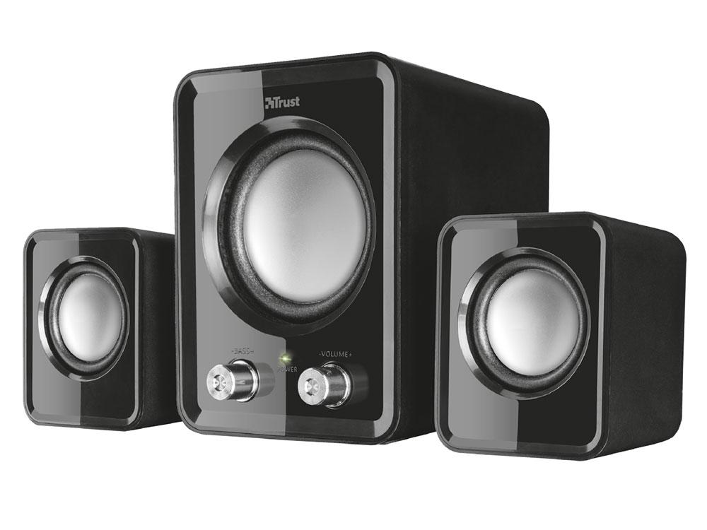Фото - Колонки Trust Ziva Compact 2.1 Black 12 Вт / 100 - 20000 Гц / 3.5 мм / USB колонки defender q3 2 0 black 2x3 вт 50 20000 гц mini jack usb