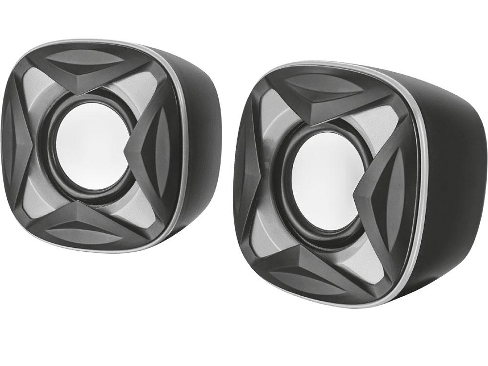 Фото - Колонки Trust Xilo 2.0 Black/Silver 2 х 4 Вт / 150 - 20000 Гц / 3.5 мм / USB колонки defender q3 2 0 black 2x3 вт 50 20000 гц mini jack usb