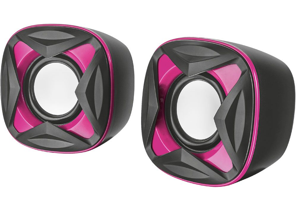 Фото - Колонки Trust Xilo 2.0 Black/Pink 2 х 4 Вт / 150 - 20000 Гц / 3.5 мм / USB колонки defender q3 2 0 black 2x3 вт 50 20000 гц mini jack usb