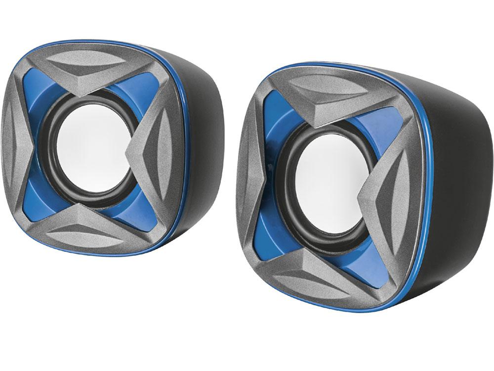 Фото - Колонки Trust Xilo 2.0 Black/Blue 2 х 4 Вт / 150 - 20000 Гц / 3.5 мм / USB колонки defender q3 2 0 black 2x3 вт 50 20000 гц mini jack usb