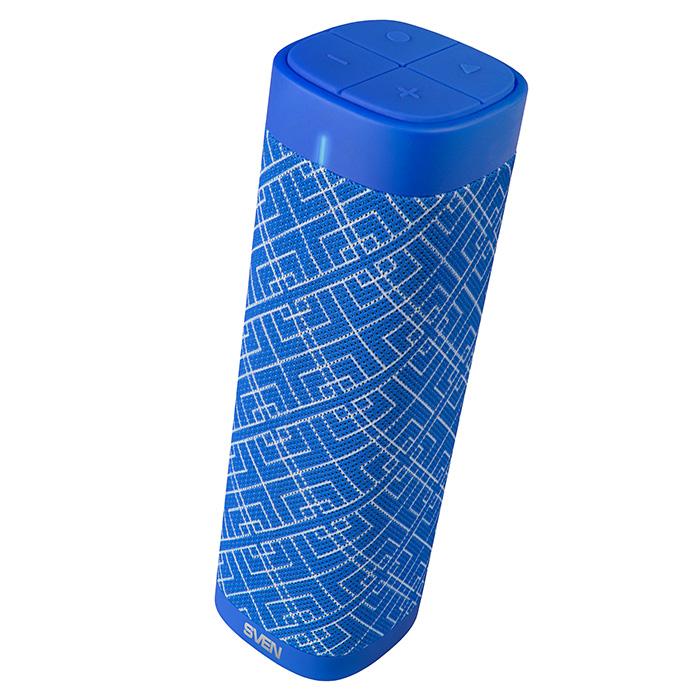 цена на Портативная акустика Sven PS-115 Blue 2х5 Вт, 120 - 20000 Гц, FM, Bluetooth, USB, AUX, microUSB, 1800мАч