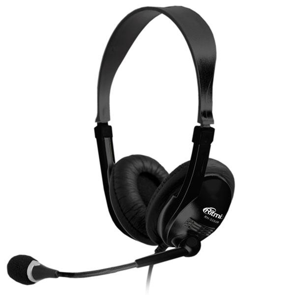 Наушники (гарнитура) Ritmix RH-533 USB Black Накладные / черный / 20 Гц - 20 кГц / 105 дБ / 2 x miniJack 3.5 lileng 821 usb powered 3 blade 2 mode fan black 4 x aa