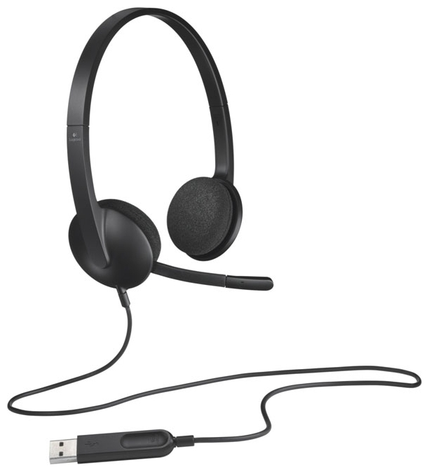 (981-000475) Гарнитура Logitech Headset H340 USB гарнитура logitech wireless headset h760 981 000266