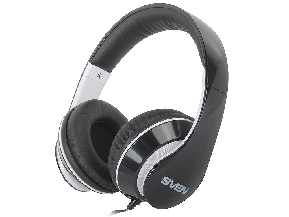 Гарнитура SVEN AP-940MV наушники: 18 – 20000,микрофон: 30 – 16000, 1,2м черно- белые цена
