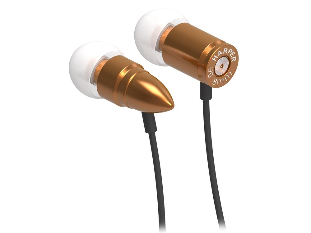 Наушники HARPER HV-609 / Проводные / Внутриканальные с микрофоном / Коричнивые / 20 Гц - 20 кГц / Двухстороннее / Mini-jack / 3.5 мм гарнитура harper hv 303 orange проводные внутриканальные с микрофоном оранжевый 20 гц 20 кгц двухстороннее mini jack 3 5 мм