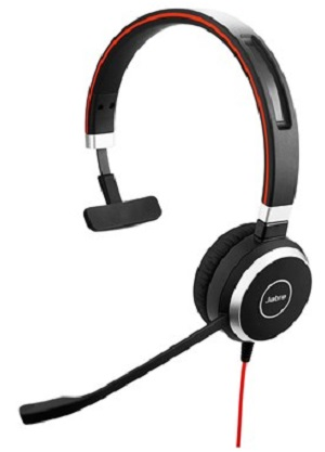 Наушники (гарнитура) JABRA EVOLVE 40 UC Mono Black Проводные / Накладные с микрофоном / Одностороннее / USB / miniJack 3.5 мм гарнитура