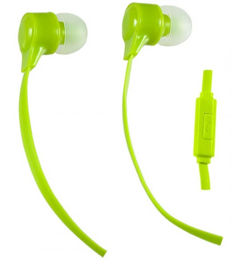 Наушники Perfeo HANDY PF-HND-LME Проводные / Внутриканальные / Зеленый / 20 Гц - 20 кГц / Двухстороннее / Mini-jack / 3.5 мм цена и фото