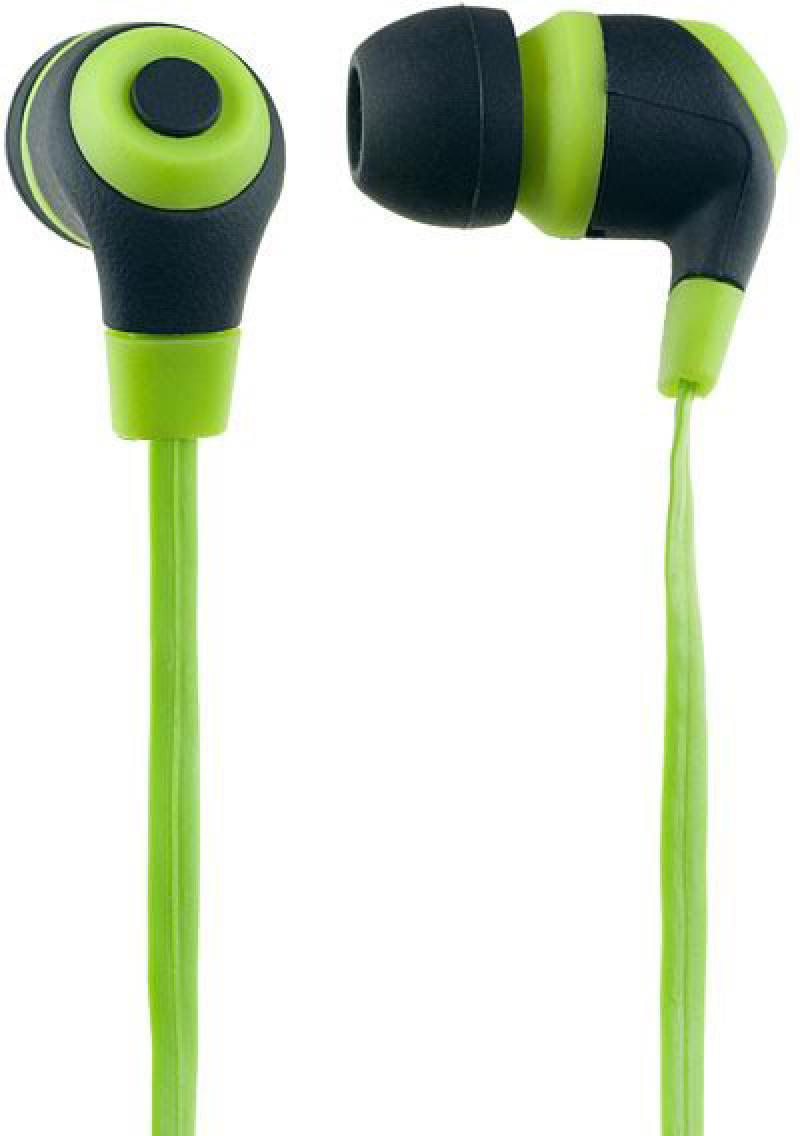 Наушники Perfeo RUBBER зелено-черный PF-RUB-GRN/BLK Проводные / Внутриканальные / Черный-зеленый / 20 Гц - 20 кГц / 100 дБ / Двухстороннее / Mini-jack / 3.5 мм наушники perfeo candy проводные внутриканальные зеленый 20 гц 20 кгц 100 дб двухстороннее mini jack 3 5 мм