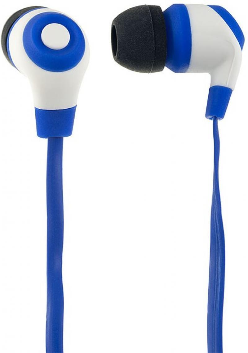 Наушники Perfeo RUBBER сине-черный PF-RUB-BLU/WHT perfeo twins pf tws wht white