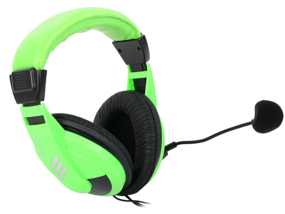 Гарнитура Defender Gryphon HN-750 зеленый 63749 гарнитура компьютерная defender warhead hn g110