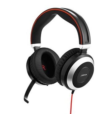 цена на Наушники (гарнитура) JABRA EVOLVE 80 MS Stereo Black Проводные / Полноразмерные с микрофоном / Одностороннее / USB / miniJack 3.5 мм