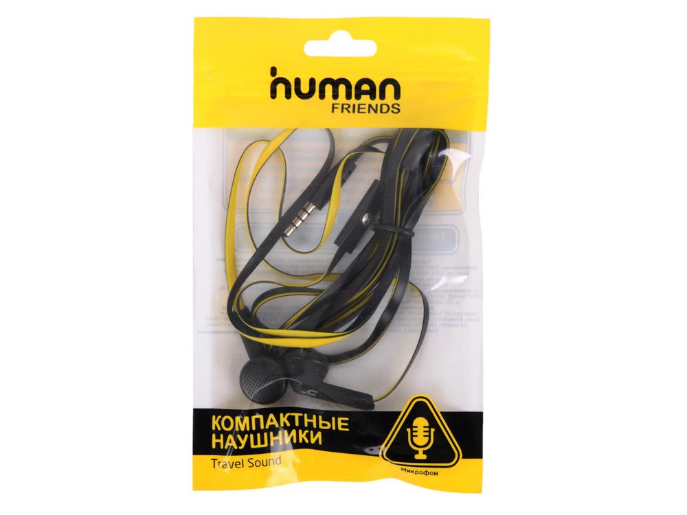 Наушники CBR Human Friends Acid Black Yellow Проводные / Внутриканальные / Черный Желтый / 20 Гц - 20 кГц / Двухстороннее / Mini-jack / 3.5 мм серьги black jack янтаринка