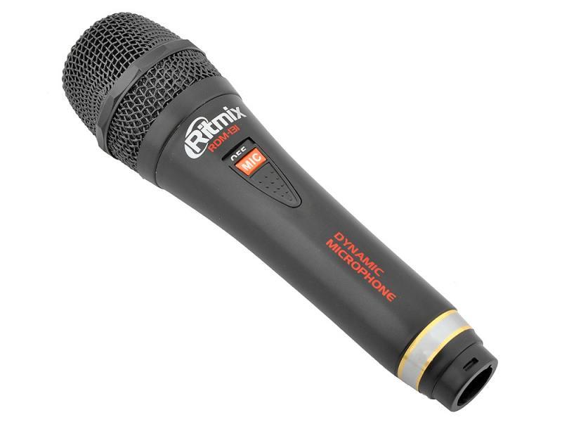 Микрофон Ritmix RDM-131 черный 3м rolsen rdm 100 black