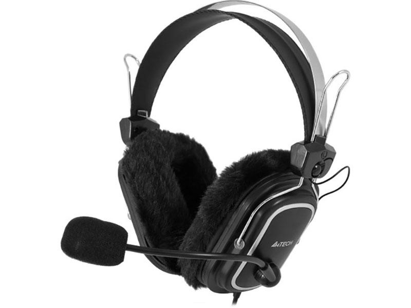 Гарнитура A4Tech HS-60, Black рег.громк.+выключатель гарнитура cresyn c450s black