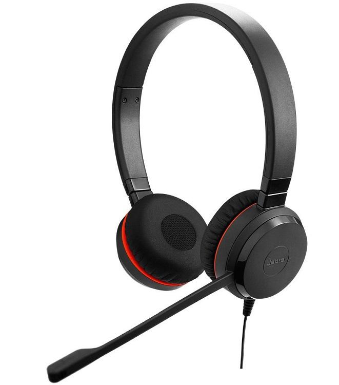 Наушники (гарнитура) JABRA EVOLVE 20 MS Stereo Black Проводные / Накладные с микрофоном / Одностороннее / USB гарнитура