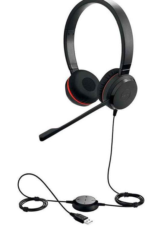 Гарнитура (наушники) JABRA EVOLVE 20 UC Stereo Black Проводные / Накладные с микрофоном / Одностороннее / USB гарнитура