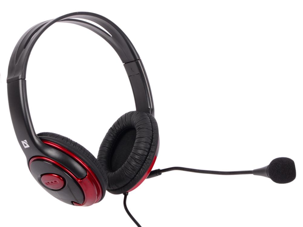 Гарнитура Defender Phoenix 875 черно-красный 63875 стоимость
