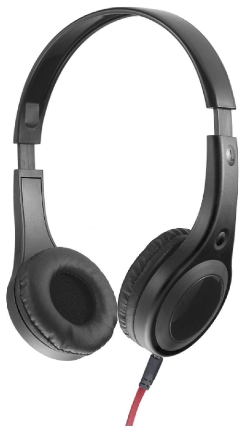 Наушники Perfeo Forte PF-FRT-BLK Black Проводные / Накладные / Черный / 20 Гц - 20 кГц / 100 дБ / Одностороннее / Mini-jack / 3.5 мм наушники perfeo twins черный pf tws blk