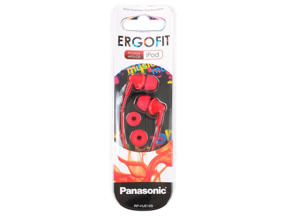Наушники Panasonic RP-HJE125E-R Red Проводные / Внутриканальные без микрофона / 10 — 24 000 Гц / 97 дБ / miniJack 3.5 мм линзы rp noyz mls red