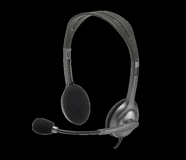 Гарнитура Logitech Headset H111 Проводные / Накладные с микрофоном / Серый / 20 Гц - 20 кГц / 100 дБ / Одностороннее / Mini-jack / 3.5 мм гарнитура logitech stereo headset h111 серый 981 000593