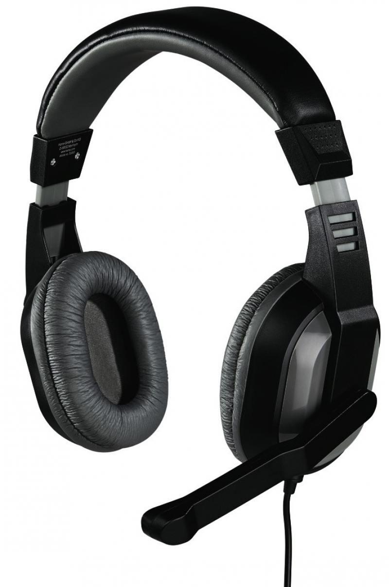 Наушники (гарнитура) Hama Offbeat H-53983 Grey, Проводные / Полноразмерные с микрофоном / Серый / 20 Гц - 20 кГц / 105 дБ / Одностороннее / Mini-jack / 3.5 мм