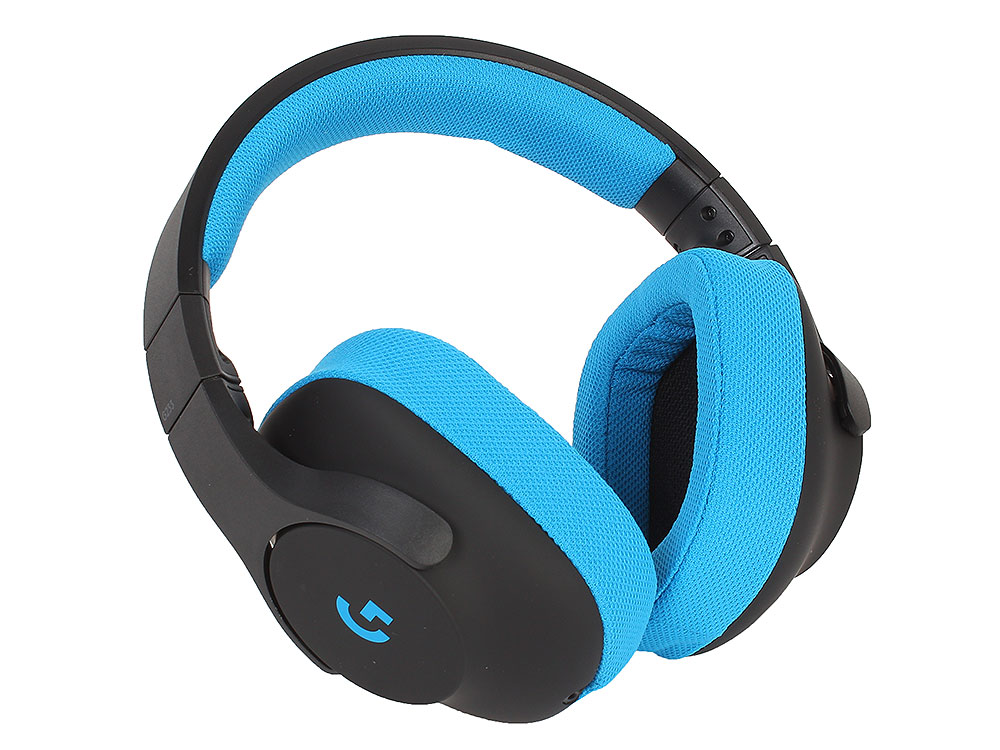 лучшая цена (981-000703) Гарнитура Logitech Gaming Headset G233 Prodigy Black/Cyan
