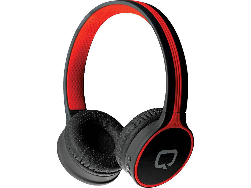 лучшая цена Гарнитура QUMO Accord 3 BT-0020 Red Беспроводные с микрофоном / 20 — 20 000 Гц / Одностороннее / BlueTooth / microUSB / miniJack 3.5 мм