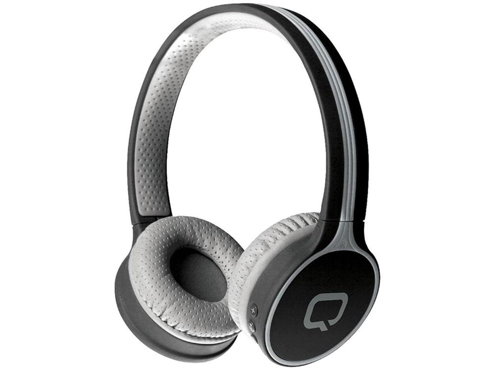 лучшая цена Гарнитура QUMO Accord 3 BT-0020 Gray Беспроводные с микрофоном / 20 — 20 000 Гц / Одностороннее / BlueTooth / microUSB / miniJack 3.5 мм