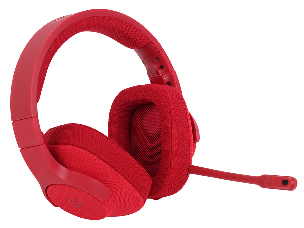 лучшая цена (981-000652) Гарнитура Logitech 7.1 Surround Gaming Headset G433 FIRE RED