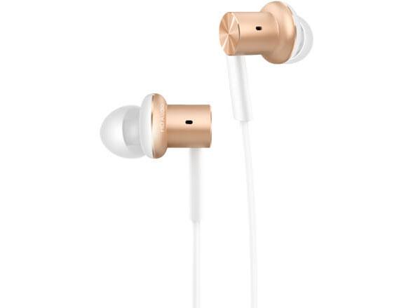 Наушники Xiaomi Mi In-Ear Headphones Pro Gold Проводные / Внутриканальные / Золотистый / 20 Гц - 20 кГц / 101 дБ / Двухстороннее / Mini-jack / 3.5 мм analog bte ear hearing aid device mini sordos ear amplifier digital hearing aids behind the ear for elderly aparelho auditivo