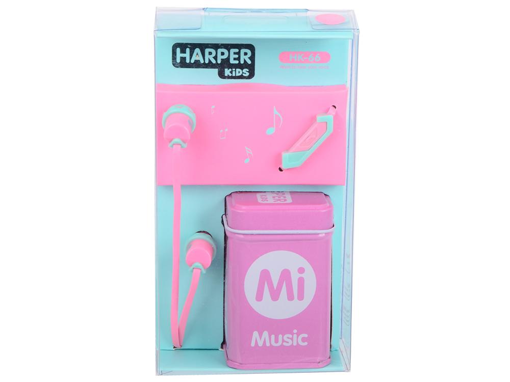 Наушники (гарнитура) HARPER HK-66 Pink Проводные / Внутриканальные с микрофоном / Розовый / 17 Гц - 21 кГц / 96 дБ / Mini-jack / 3.5 мм цена